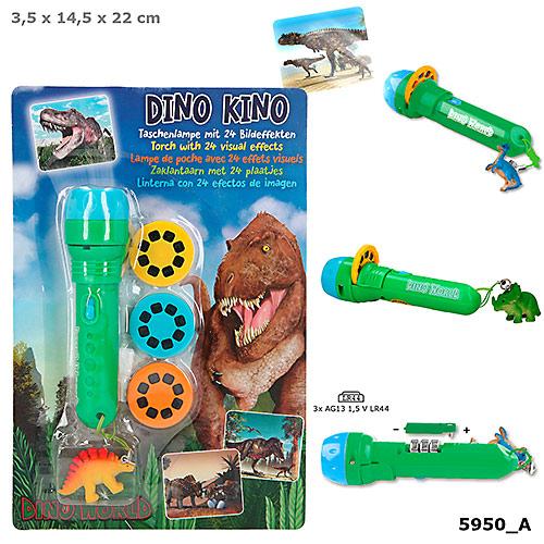 Dino World Lygte m/visuel effekt