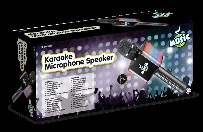Mikrofon med LED-lys og lydeffekter