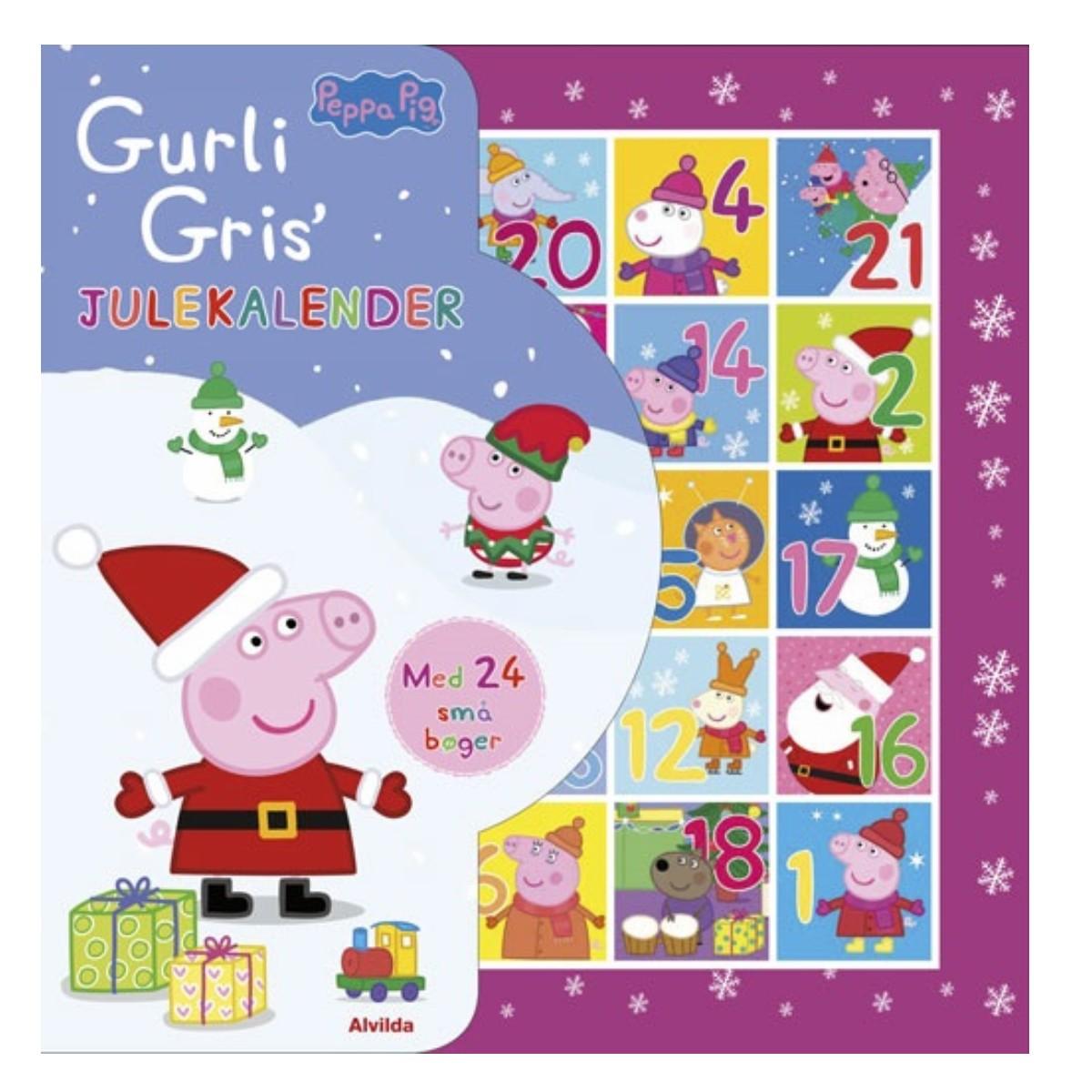 Gurli Gris - Julekalender med 24 mini bøger