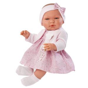 Maria babydukke - Blomstret kjole
