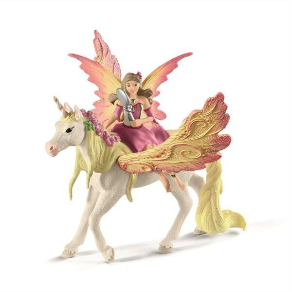 Fairy Feya with Pegasus unicorn - Schleich