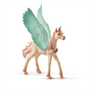 Decorated unicorn Pegasus, foal - Schleich
