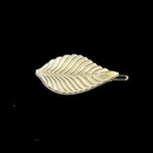 Leaf clip Beige gloss