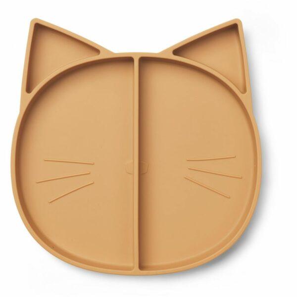 Maddox 4-delt silikone tallerken - Mustard kat