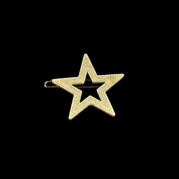 Star clip Beige gloss