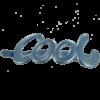 Cool clip 10 cm - Jeansblue glitter