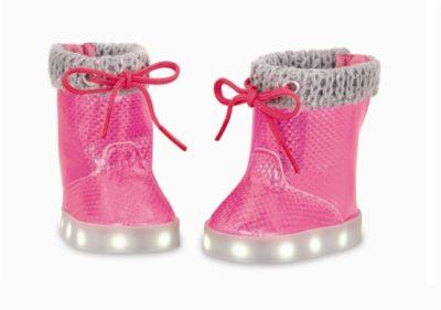 Sko med lys (pink) - Our generation