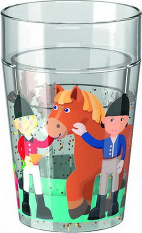 Glas med glimmer, pony