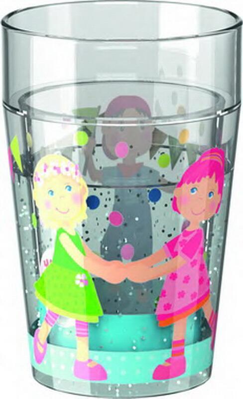 Glas med glimmer, venner