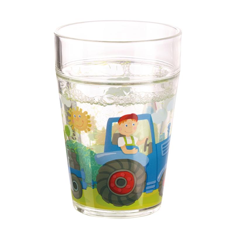 Glas med glimmer, traktor