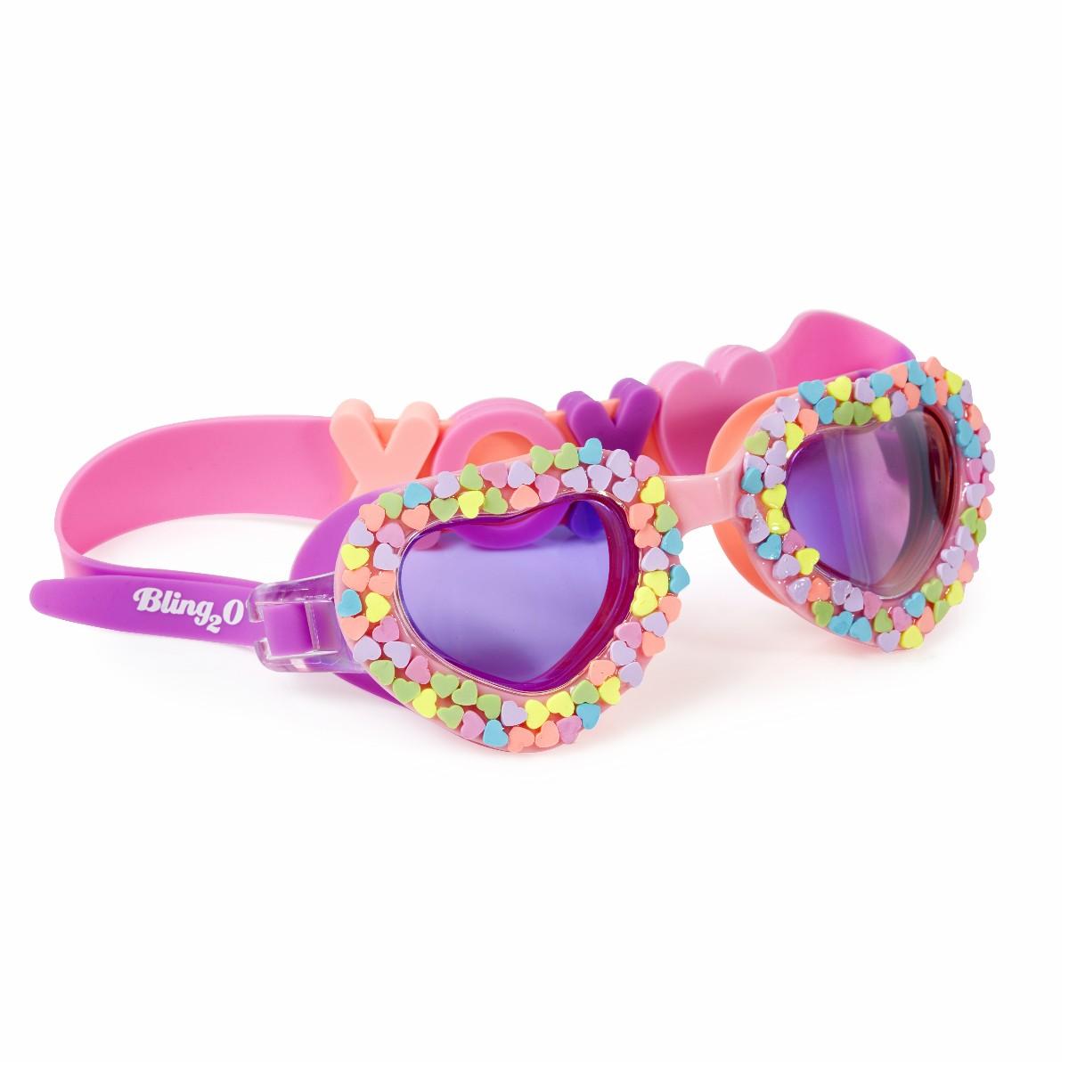 Svømmebriller, hjerte med hjerter